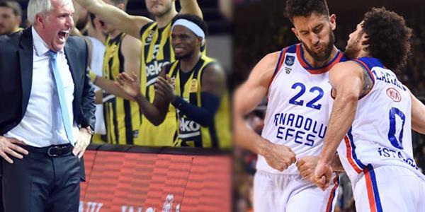 Fenerbahçe Beko ve Anadolu Efes, THY Avrupa Ligi'nde final-four'a yürüyor